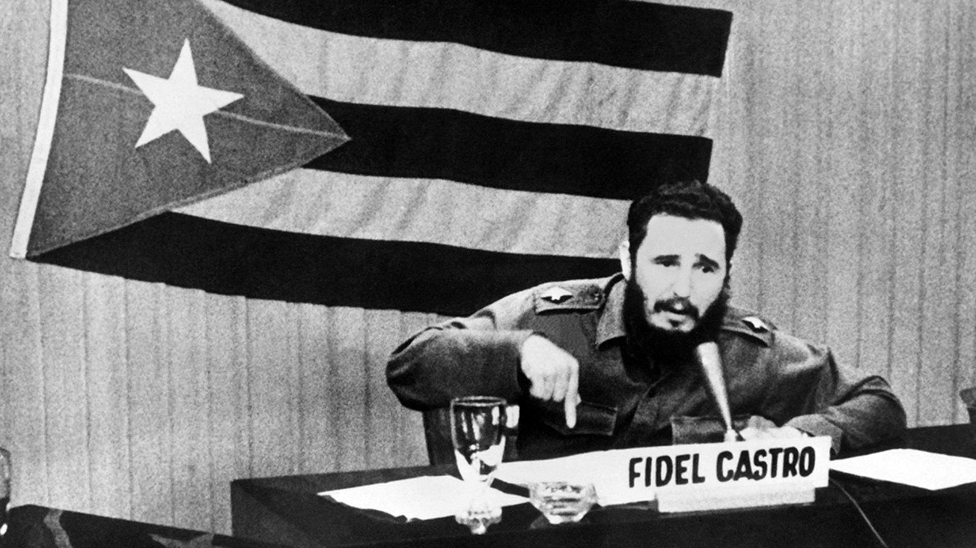 """Discurso de Fidel Castro durante lo que se llamó """"Crisis de los Misiles"""". 1962"""