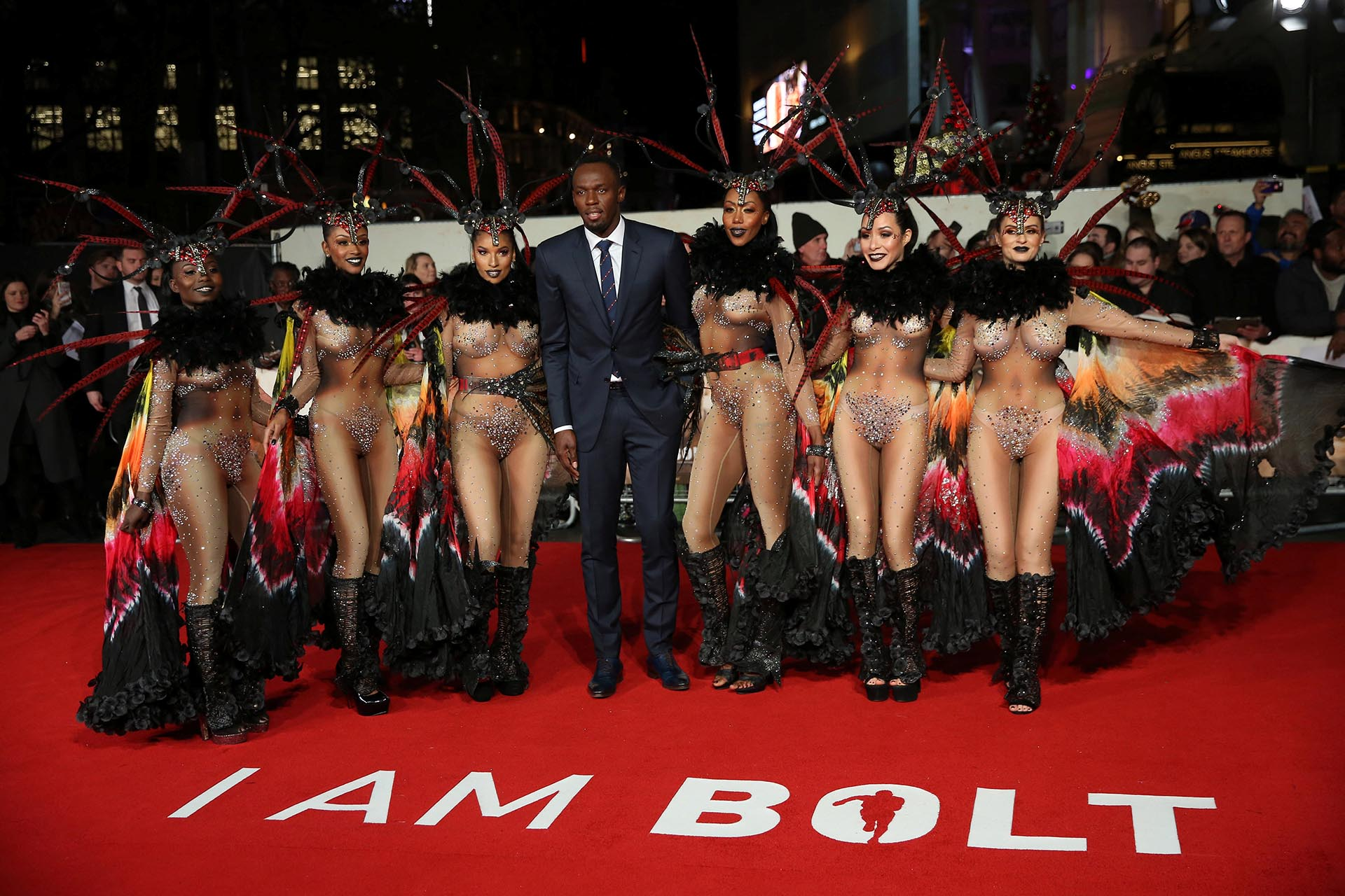 "En noviembre de 2016, Usain Bolt lanzó ""Soy Bolt"" , la película sobre su vida (Reuters)"