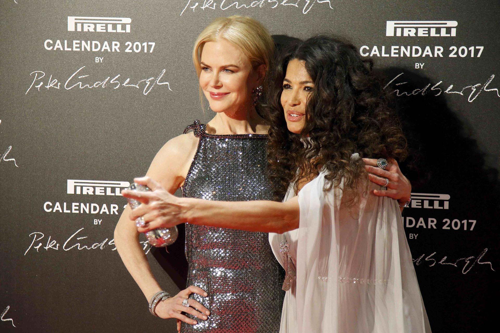 Nicole Kidman junto a la top model Afef Jnifen