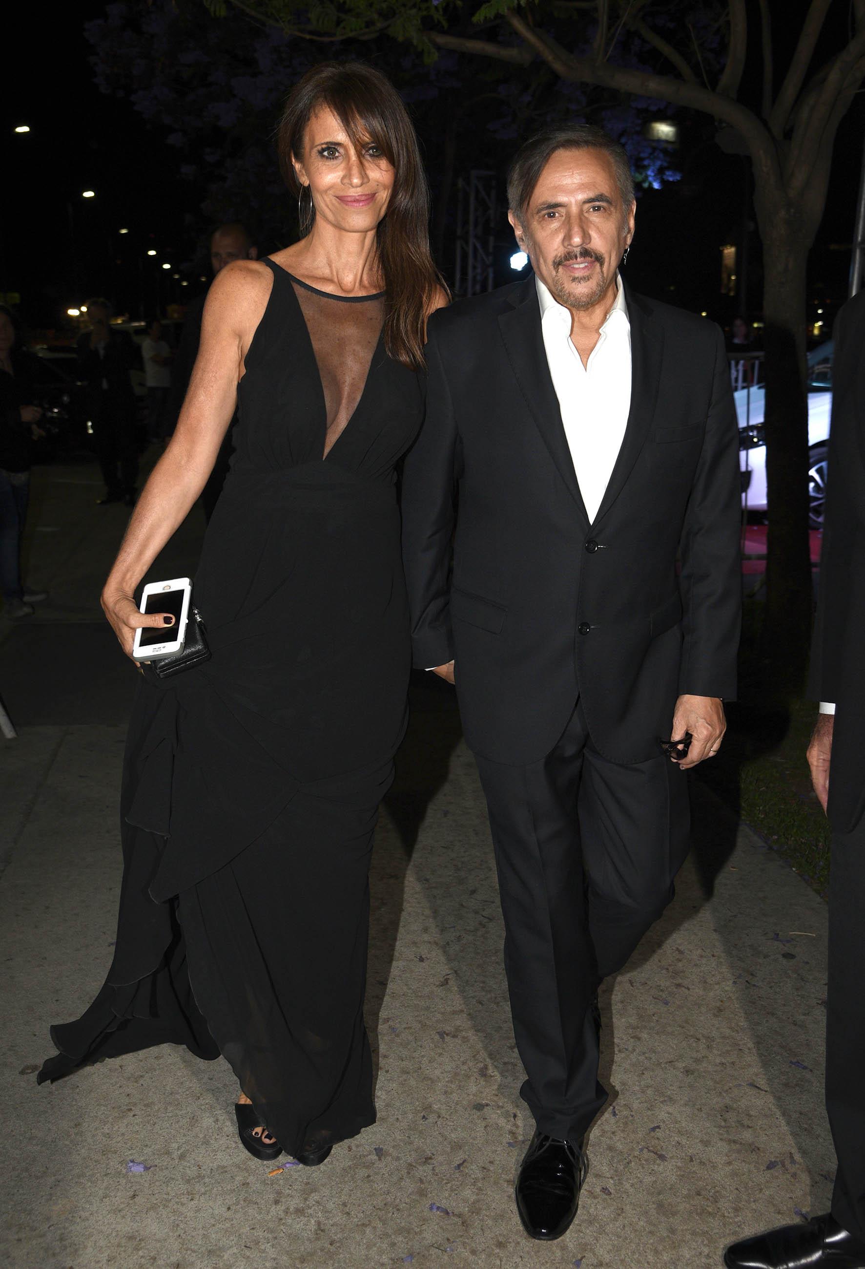 Alejandro Lerner y su mujer