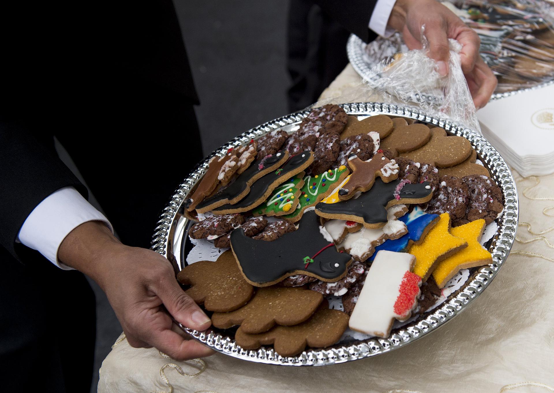 Detalle de las típicas galletas de jengibre