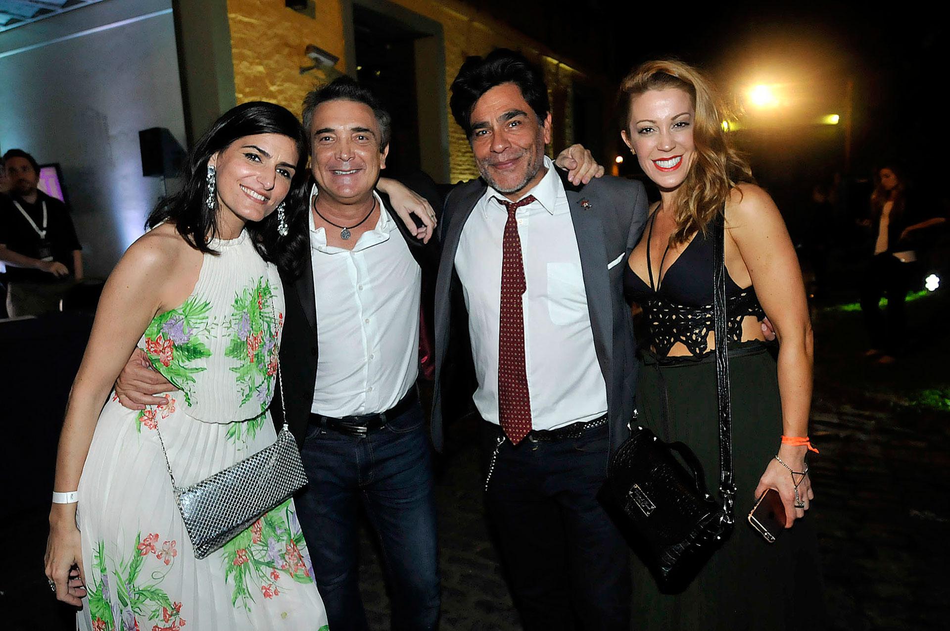 Cecilia Milone, Nito Artaza, Juan Palomino y Miriam Lanzoni
