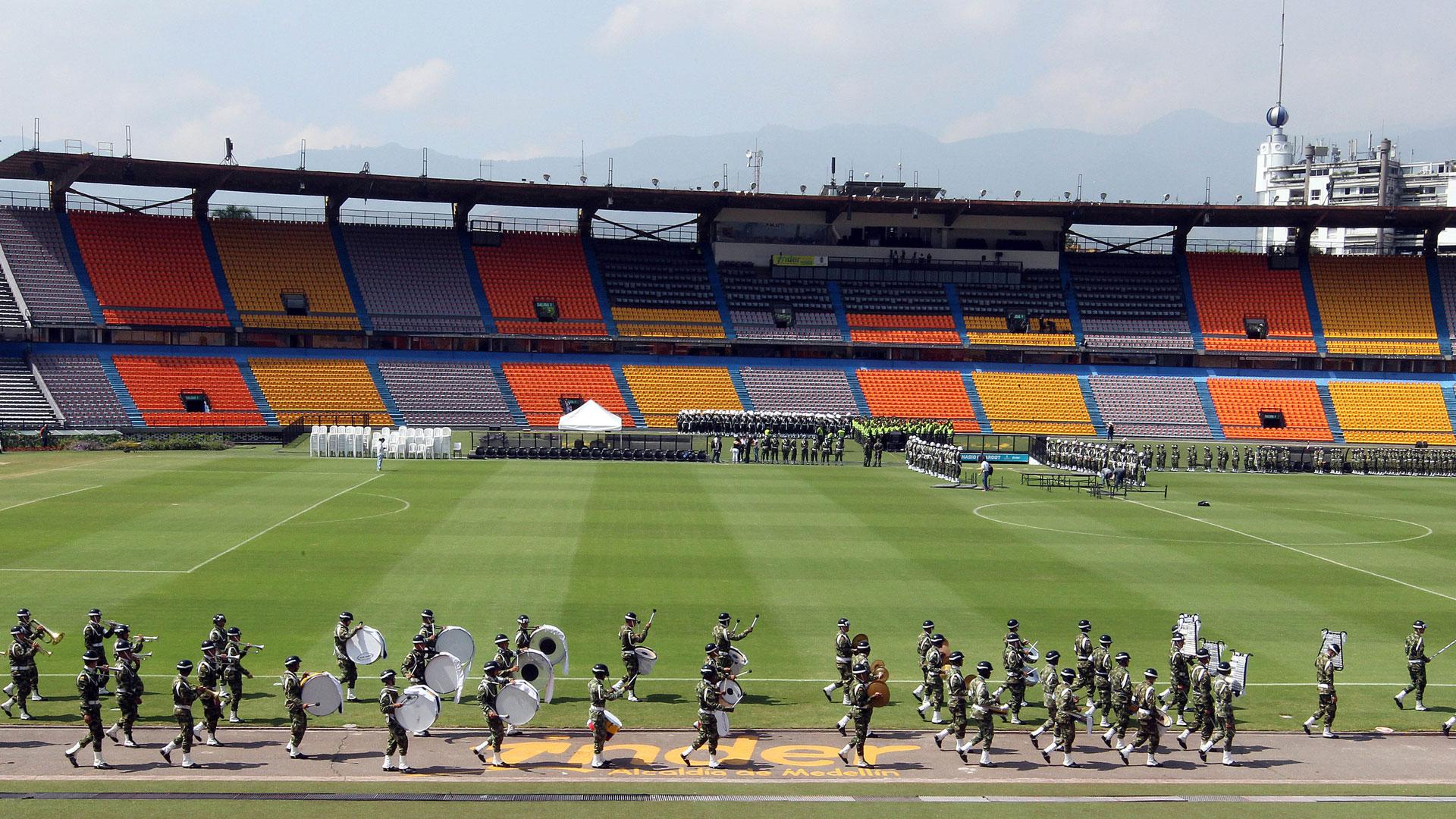 La panorámica del Atanasio Girardot, a horas del inicio del homenaje