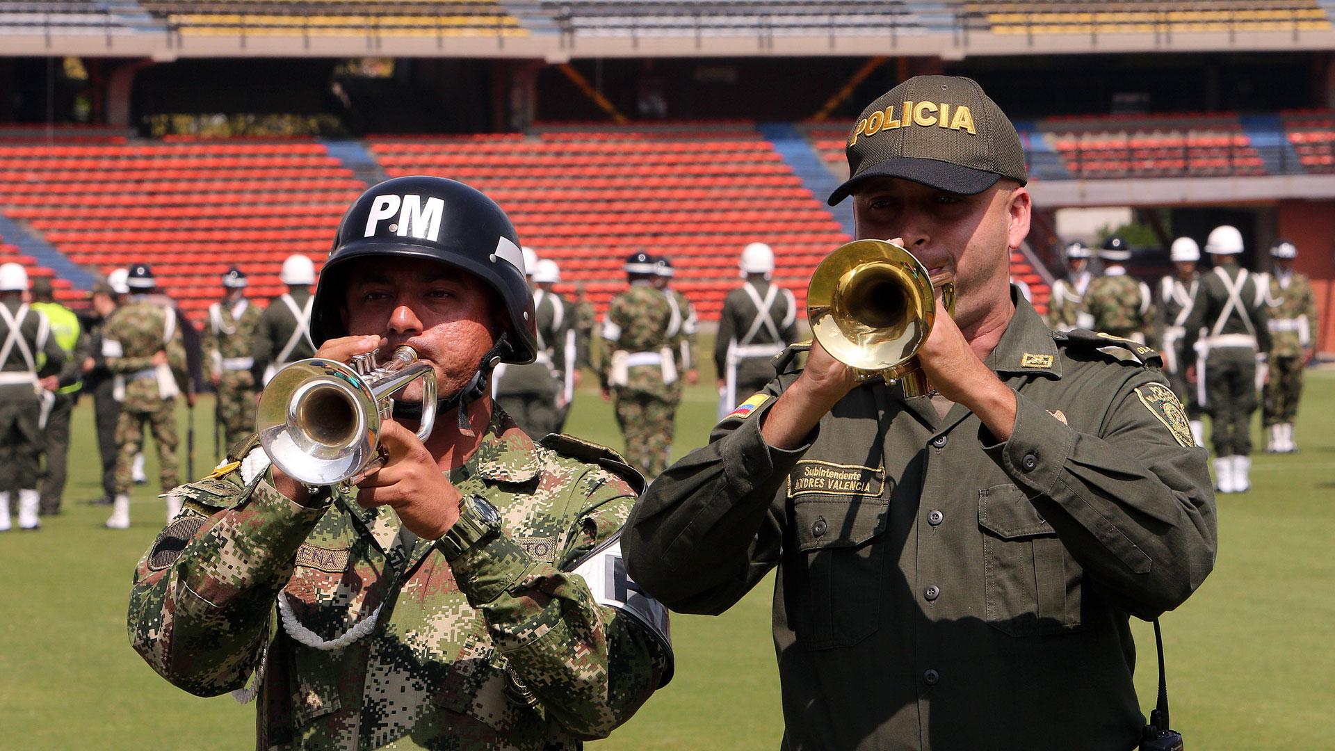 Las fuerzas de seguridad ensayan en la previa del homenaje