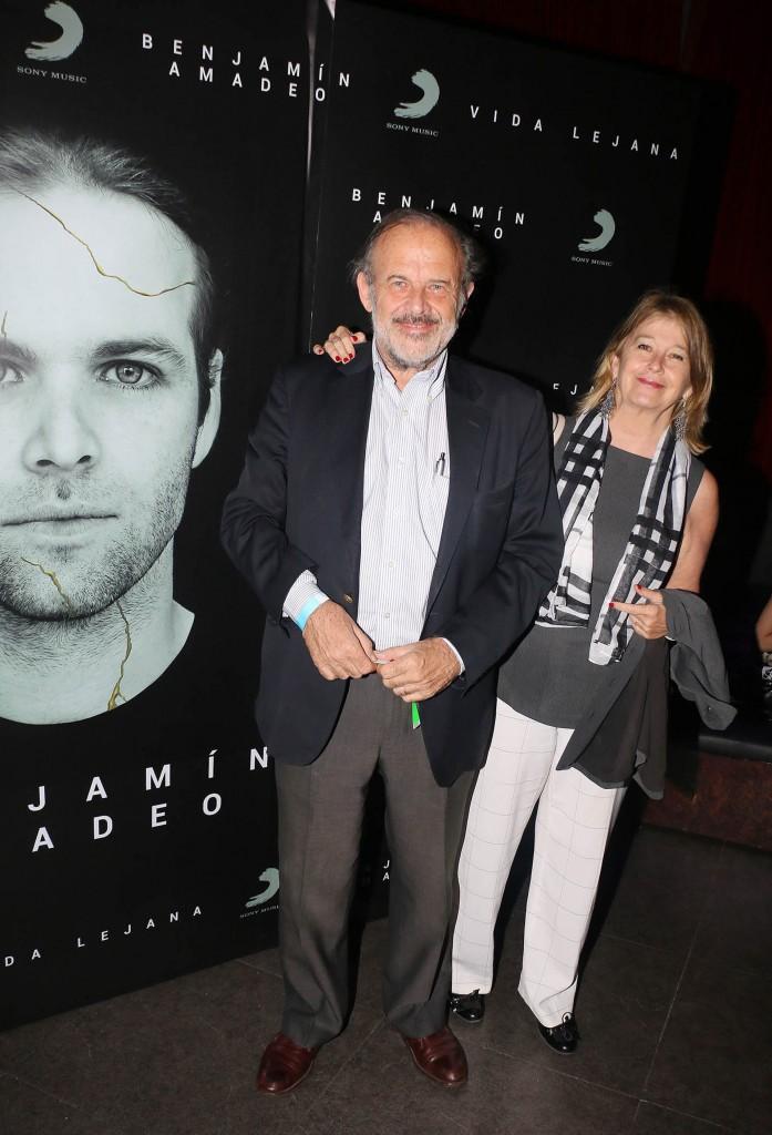 Eduardo Amadeo y su mujer
