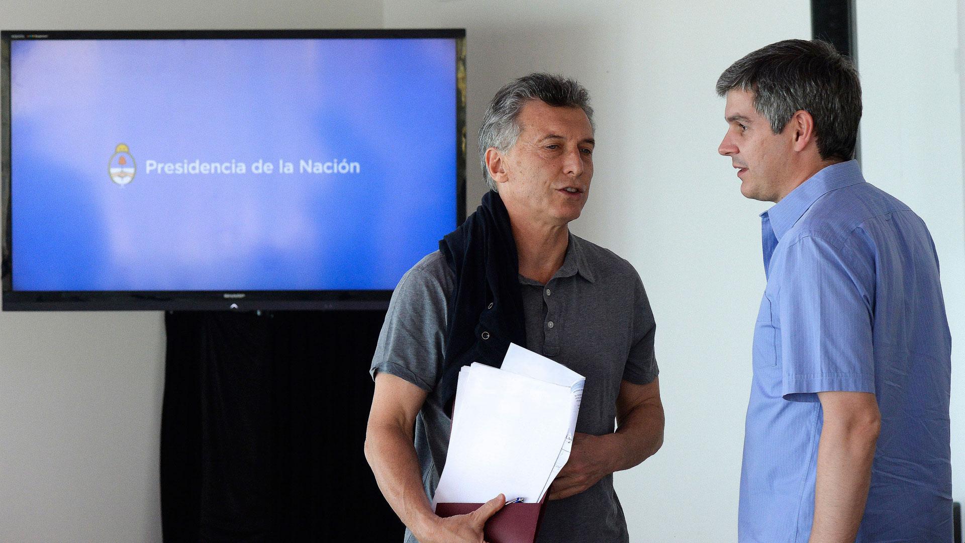 Mauricio Macri y Marcos Peña (NA)
