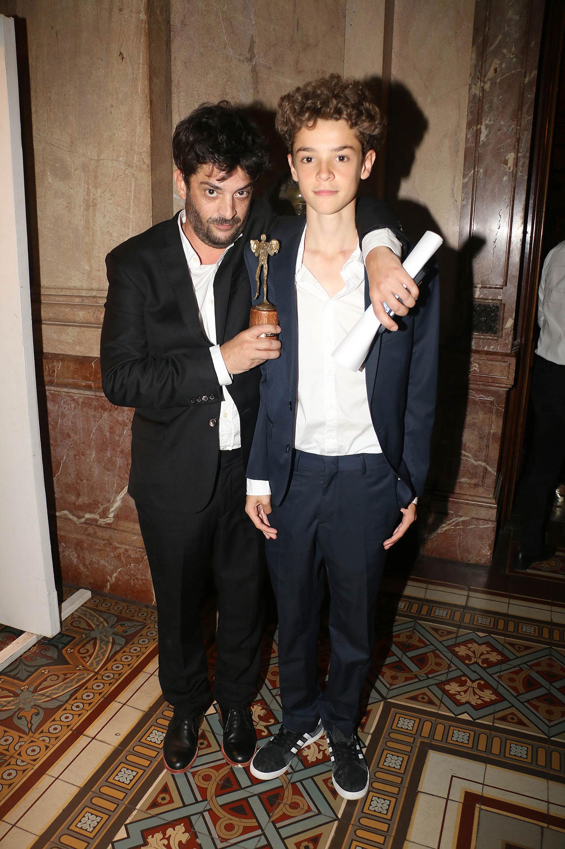 Pablo Rago y su hijo