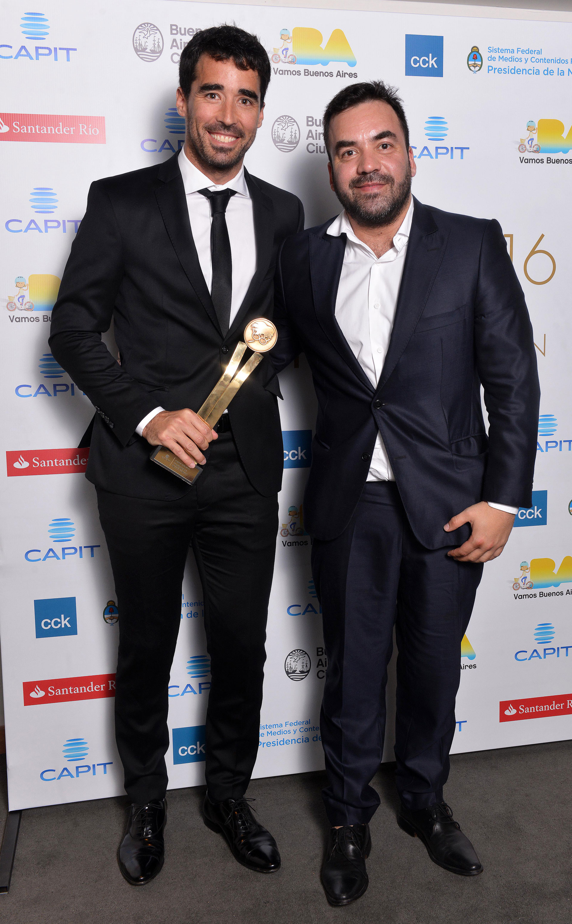 Nacho Viale y Rubén Viveros