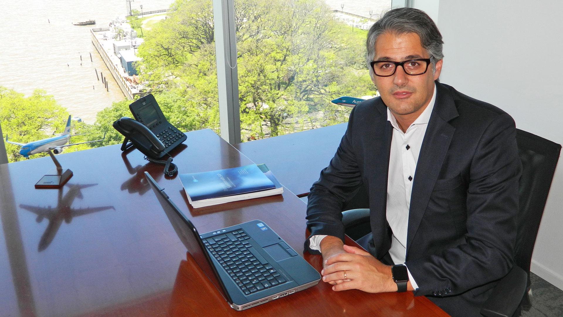 Diego García, director Comercial de Aerolíneas Argentinas
