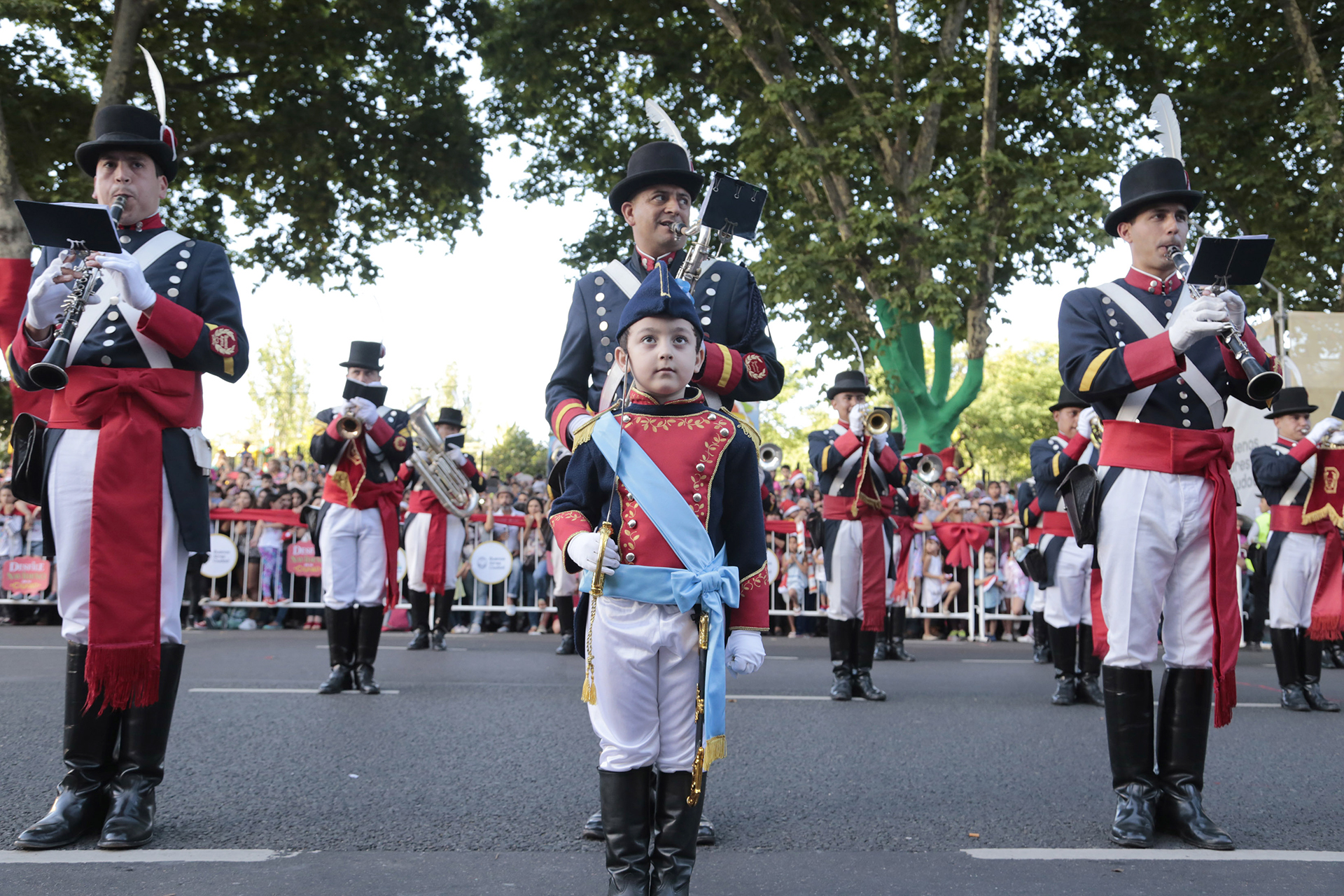 El Regimiento de Patricios estuvo presente con un pequeño integrante en sus filas