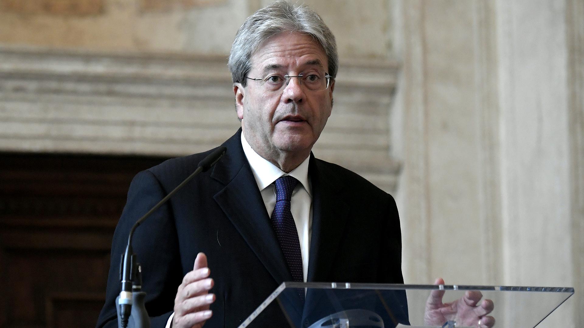 El primer ministro italiano Paolo Gentiloni (Reuters)