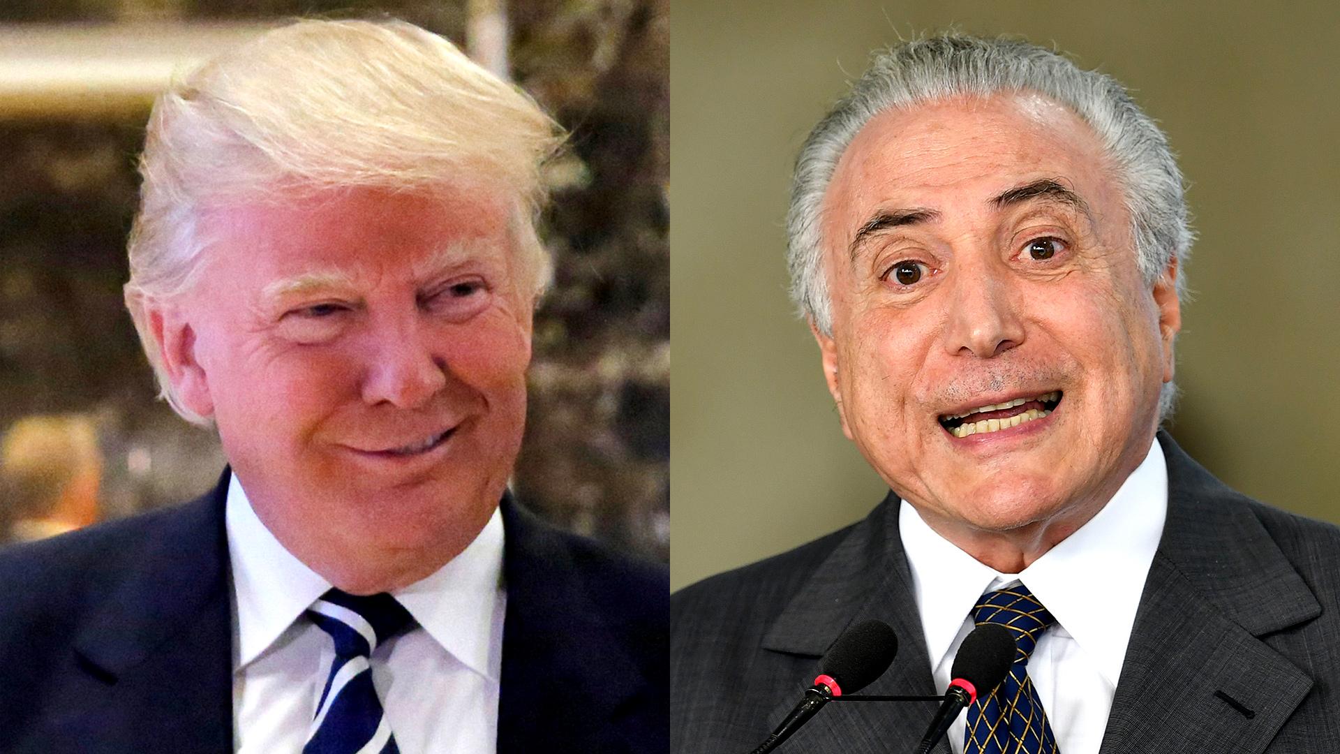 Donald Trump y Michel Temer