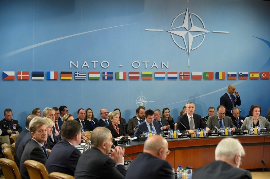 Una reunión reciente de Asuntos Exteriores de la OTAN en Bruselas (AFP)