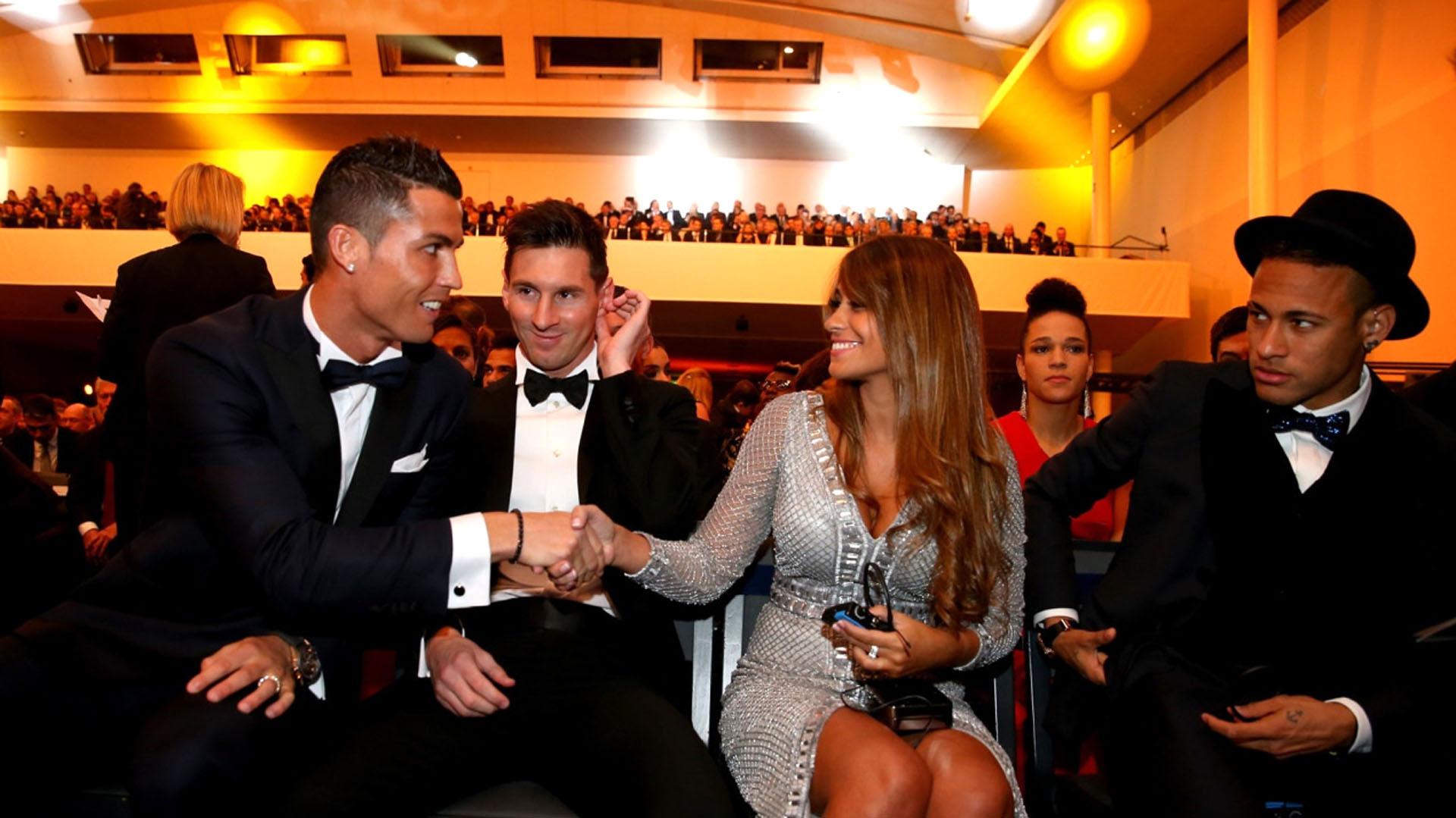 Cristiano Ronaldo y Antonella Roccuzzo coincidieron en varios eventos