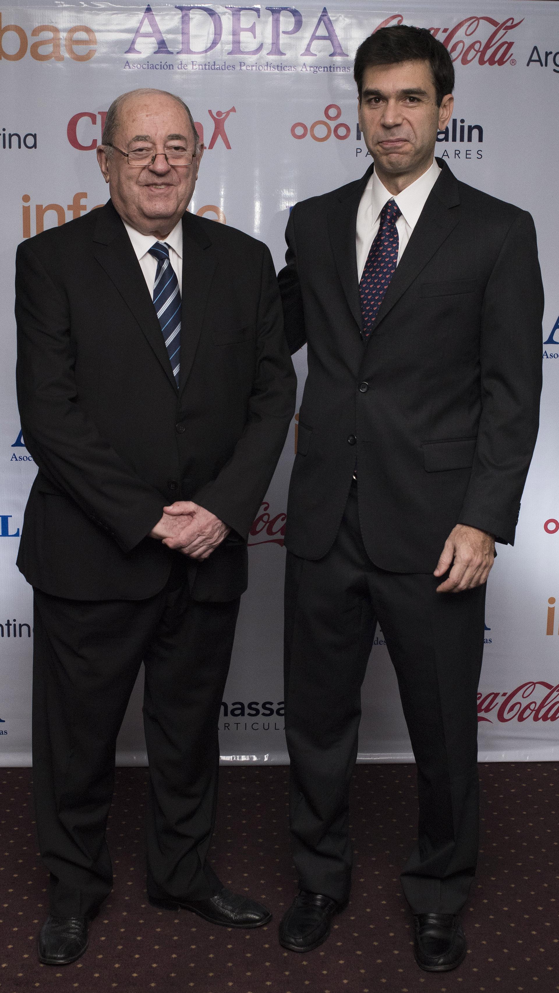 Guillermo Ignacio, ex presidente de ADEPA, y Daniel Dessein