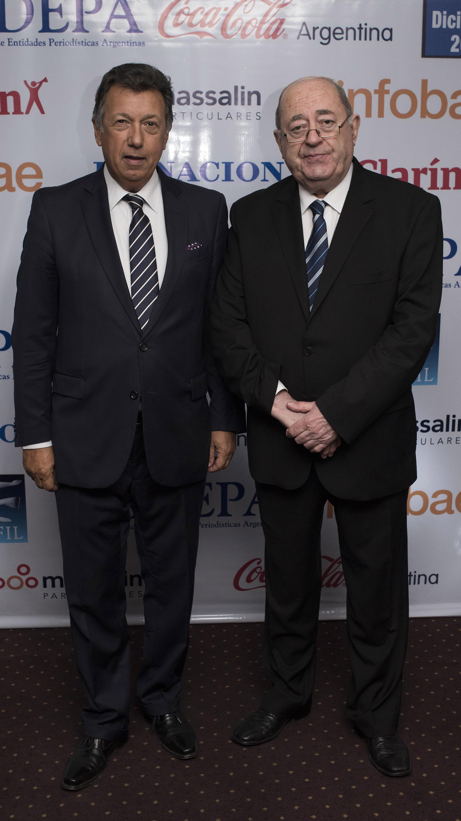 Alberto Dalla Vía, presidente de la Cámara Nacional Electoral, junto a Guillermo Ignacio