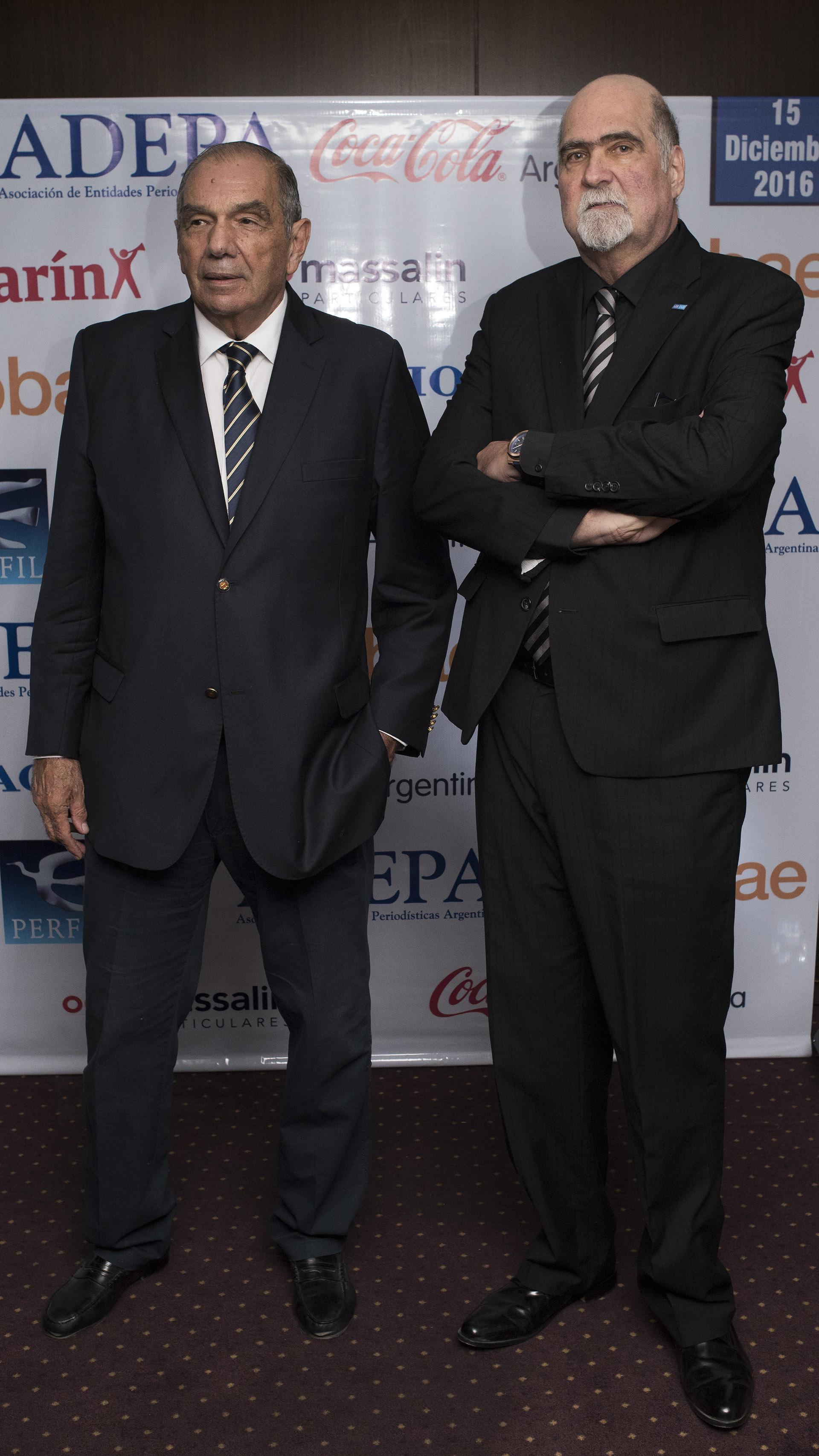 Hugo Colinet (El Litoral de Corrientes) y Luis Tarsitano (El Tribuno de Salta y Jujuy)