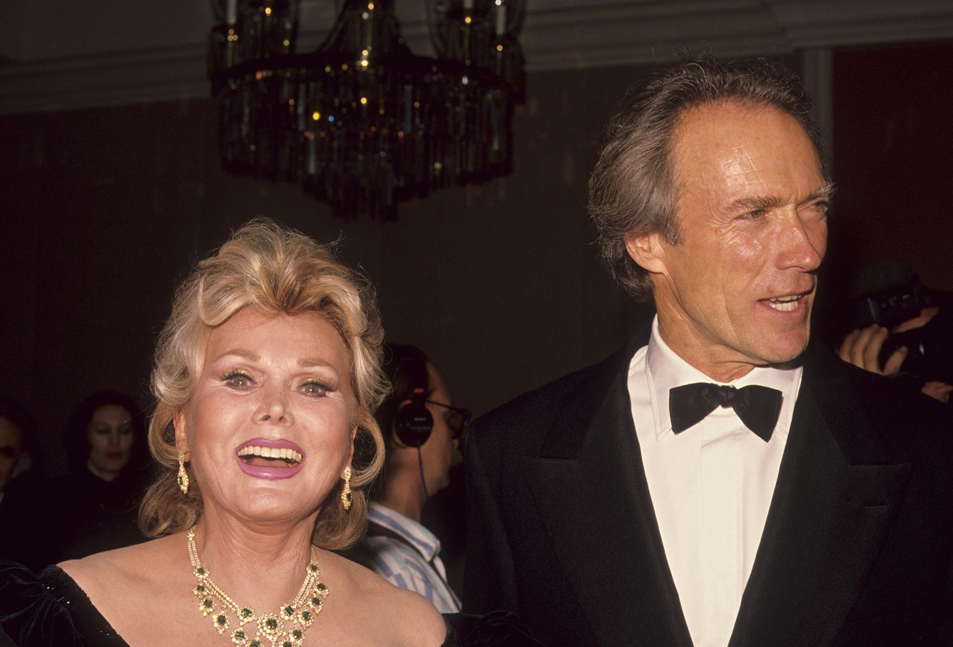 Clint Eastwoody Zsa Zsa Gabor