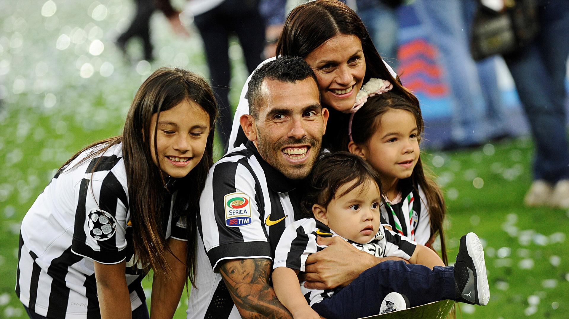 Carlos Tevez Vanesa Mansilla familia Juventus 1920