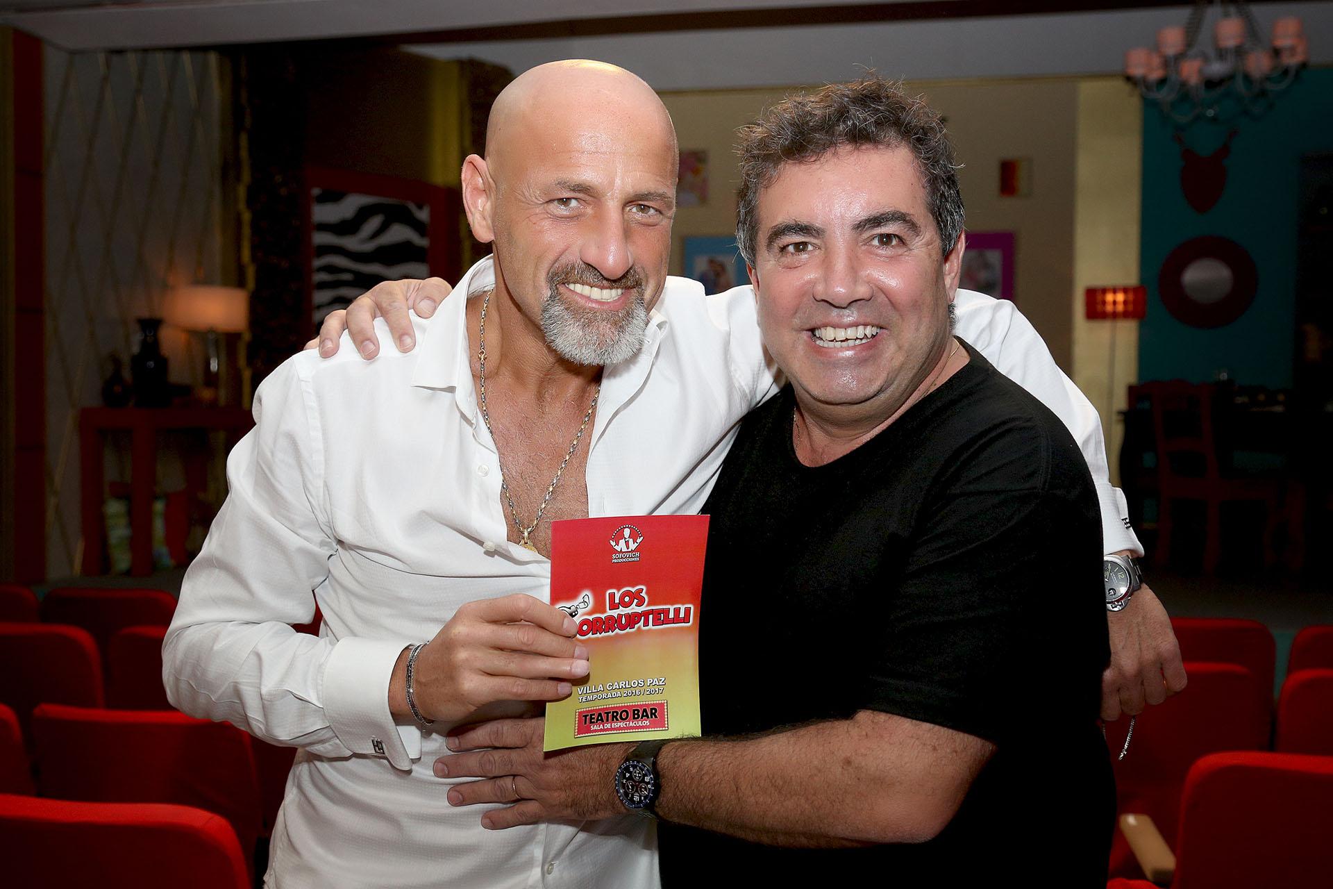 Gustavo Sofovich con Diego Pérez