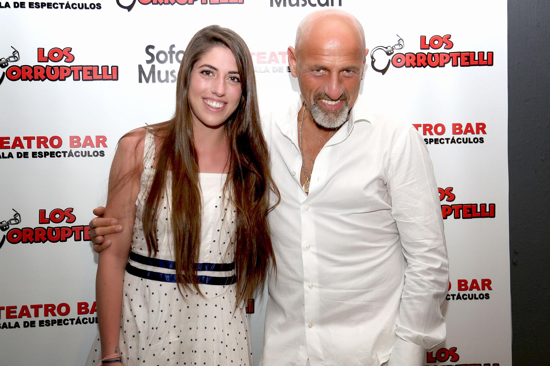 Gustavo Sofovich con su hija, Tatiana