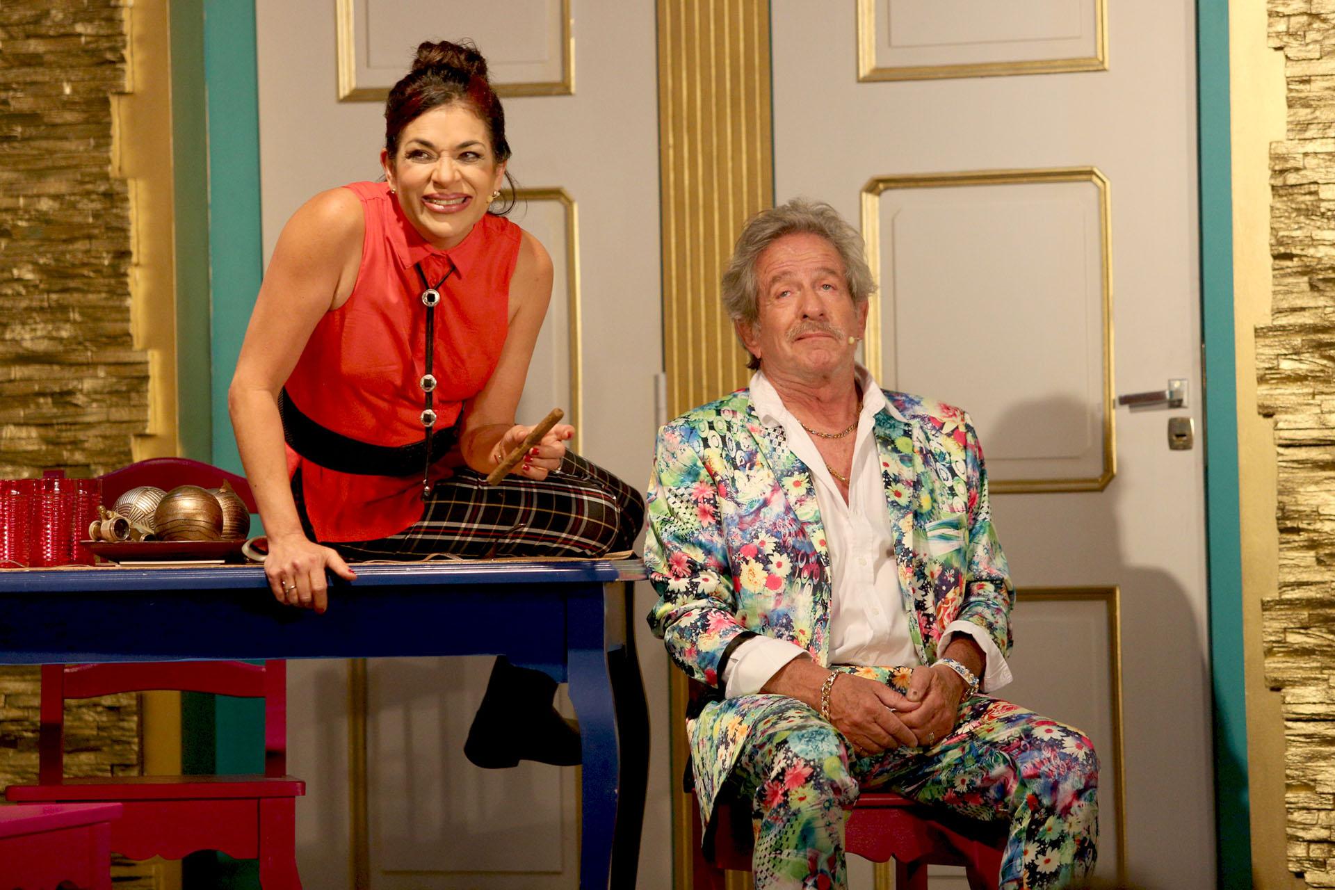 Claribel Medina y Pablo Alarcón, fueron pareja muchos años, ahora son compañeros de teatro