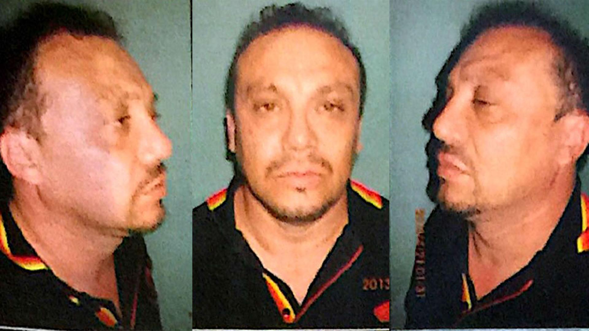 Pérez, en foto policial.