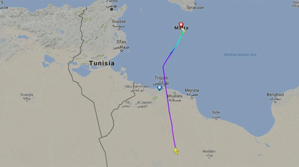 El trayecto del vueloAAW209
