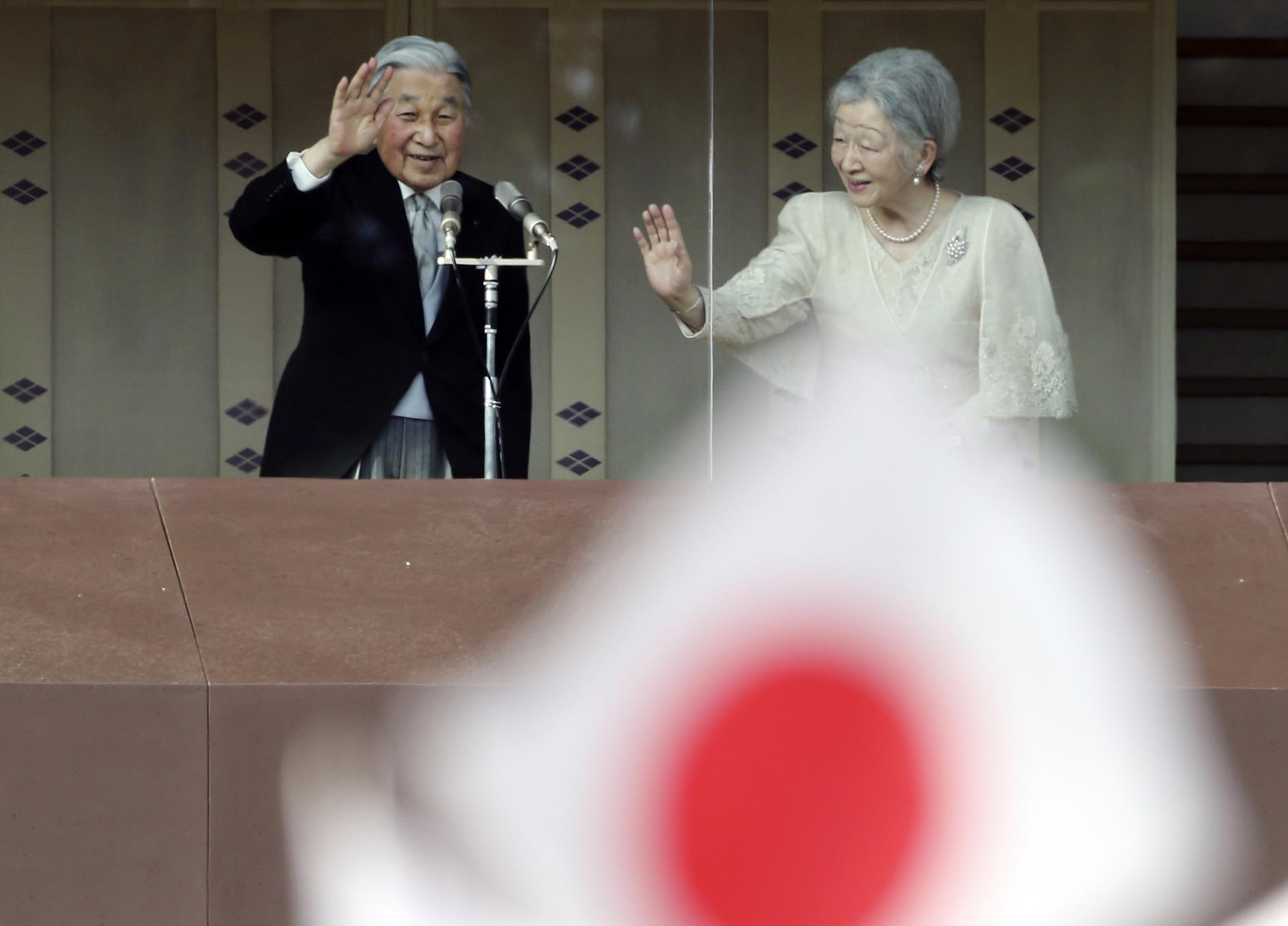 El emperadorAkihito y la emperador Michio (AP)