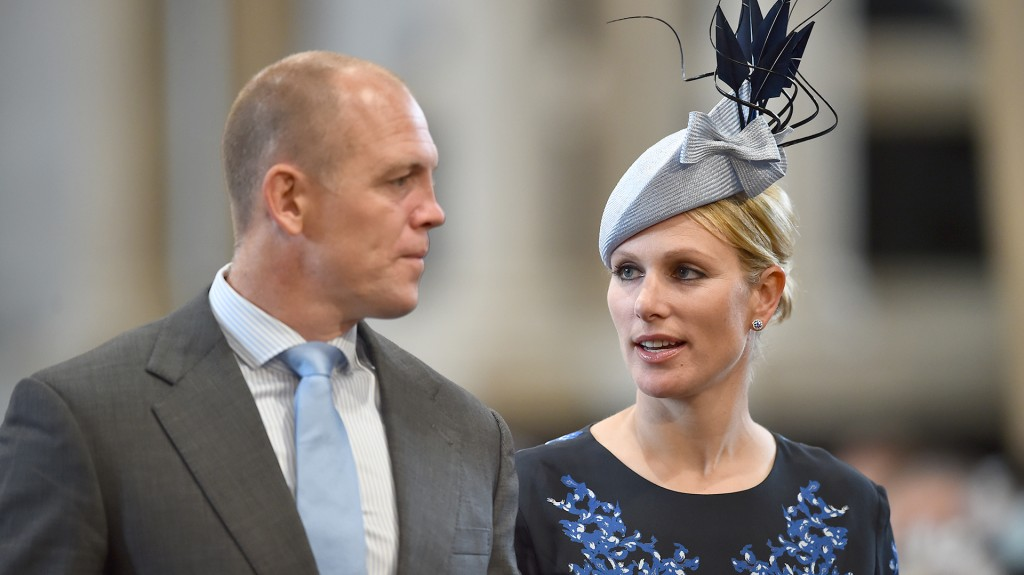 Zara Phillips y su marido (AFP)