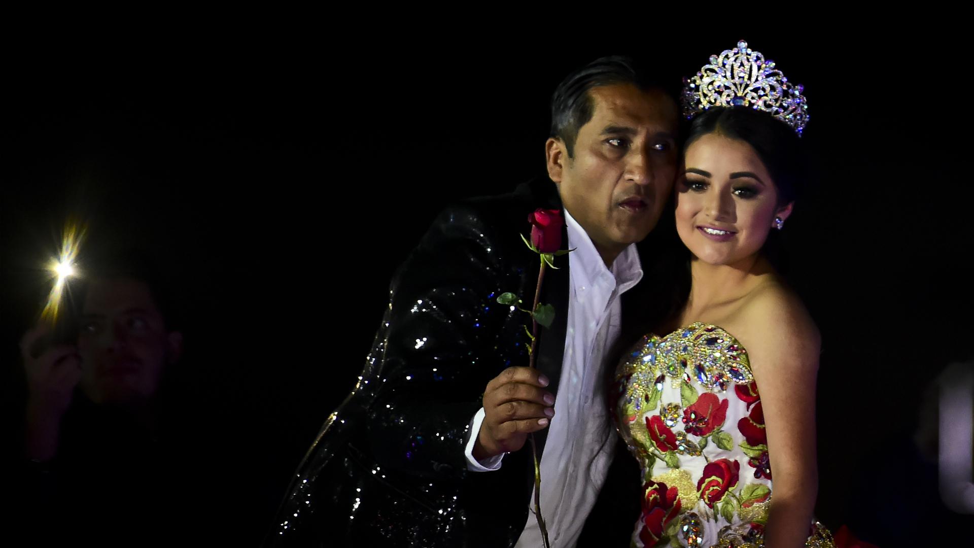 El festejo de Rubí que dio la vuelta al mundo. (Foto: AFP)