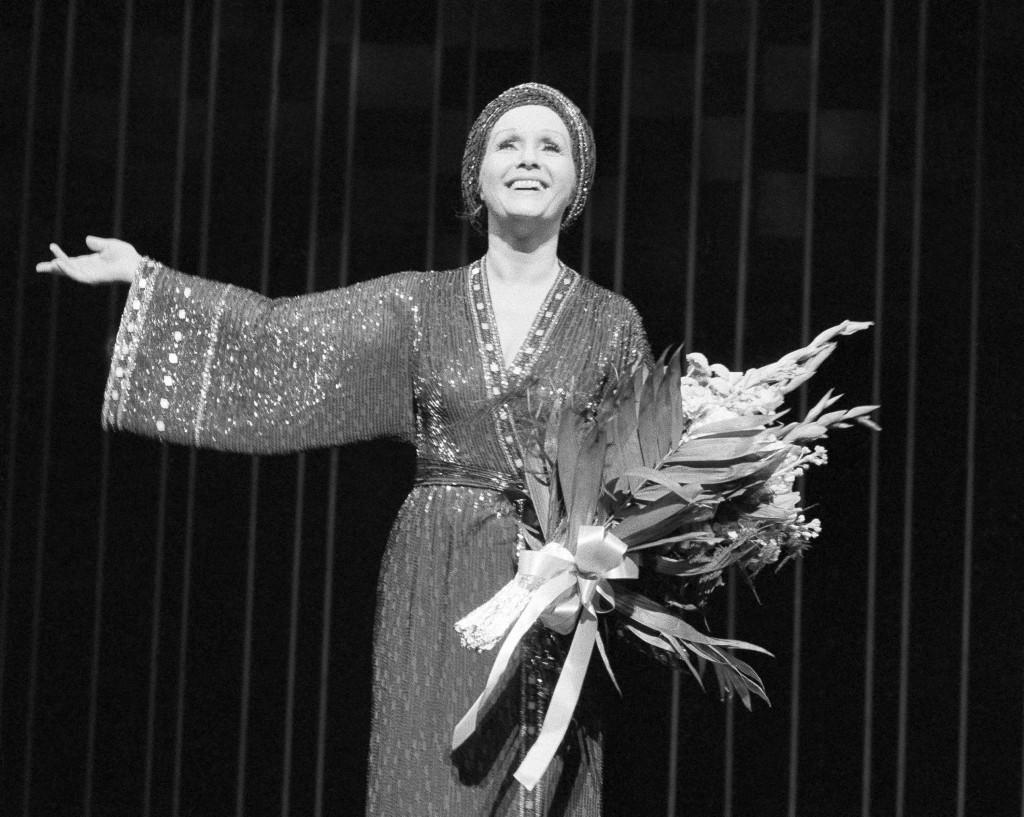 En 1983 interpretando 'Mujer del año', en Nueva York (AP)