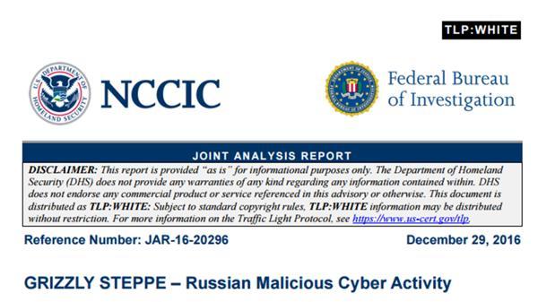 Informe presentado esta semana por el FBI que confirma los ciberataques rusos.