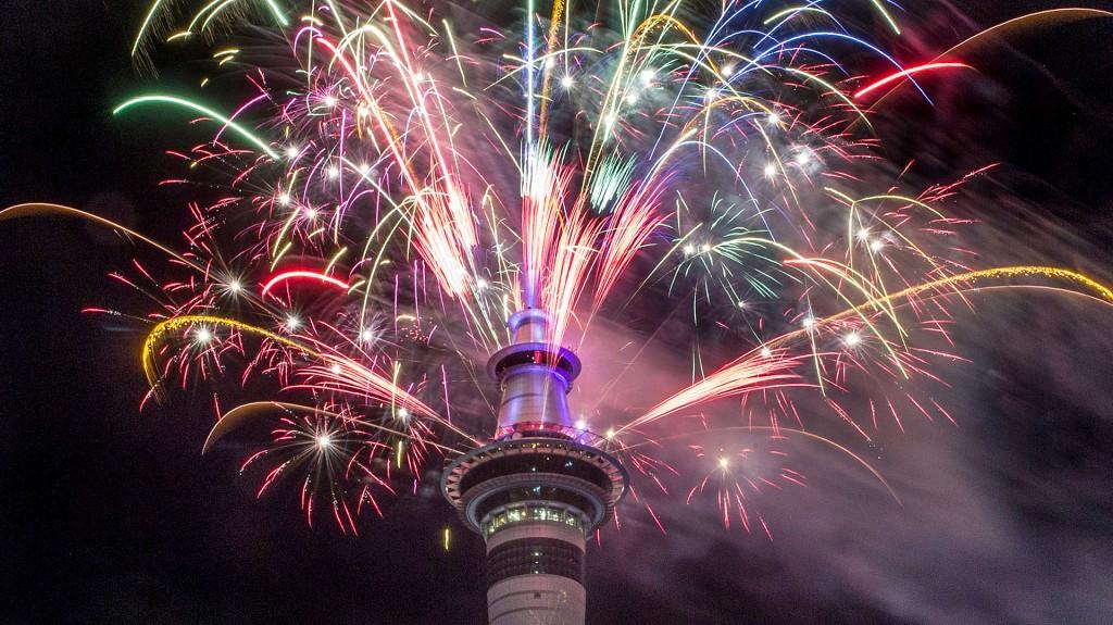 Los festejos en Auckland, Nueva Zelanda