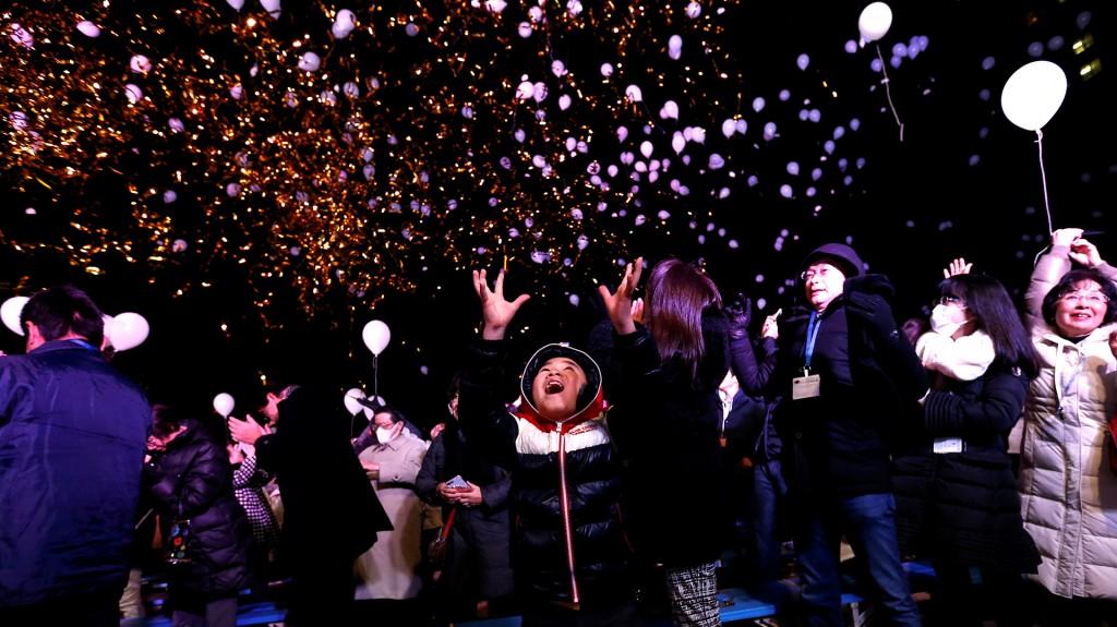 Los japoneses festejaron el inicio del 2017 en las calles