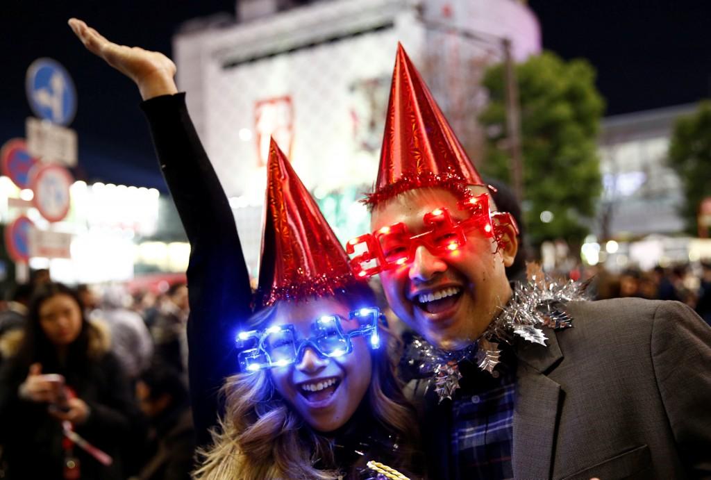 Muchos japoneses se disfrazaron para celebrar el 2017