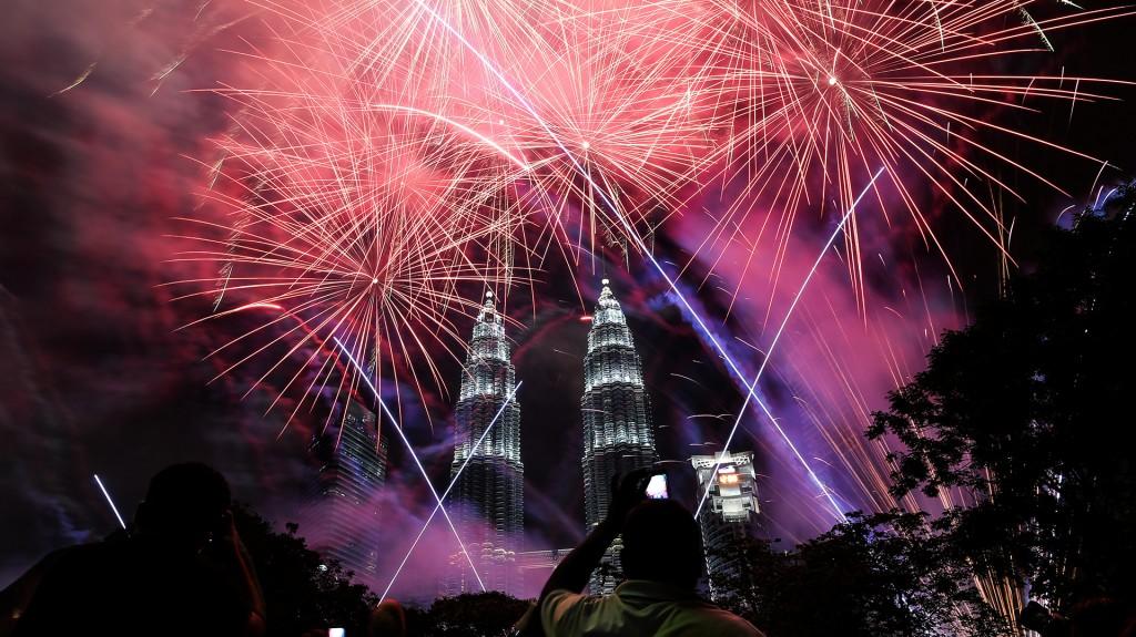 Malasia festejó a lo grande el inicio de 2017