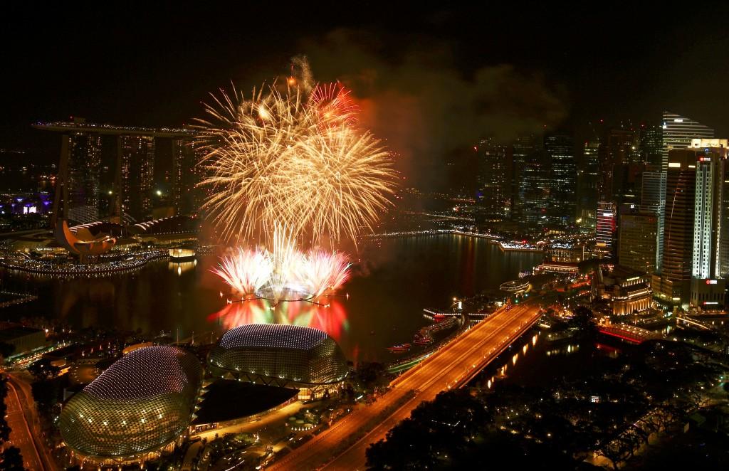 Los festejos en Singapur