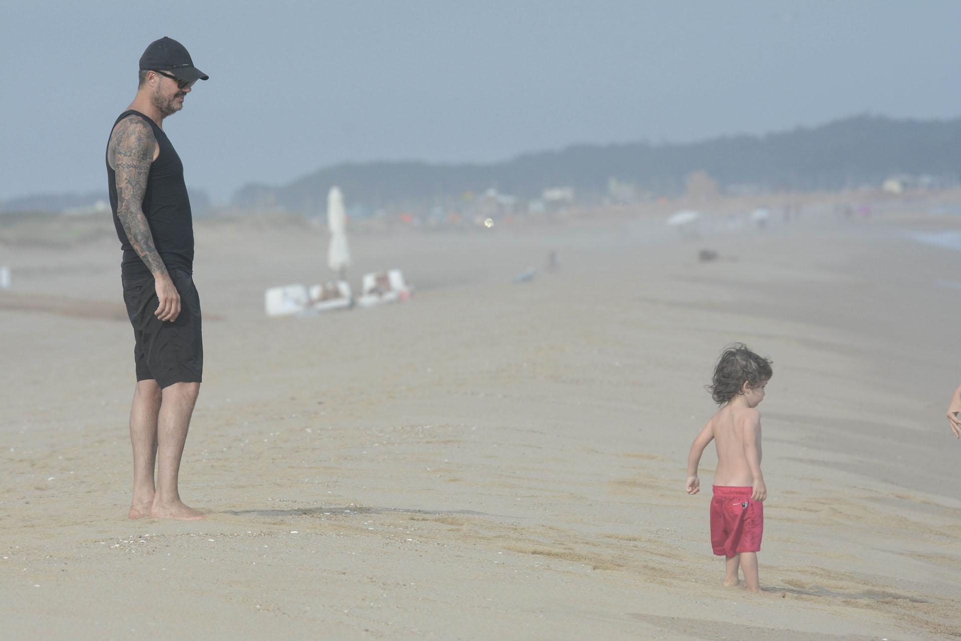 Marcelo Tinelli junto a su hijo menor, Lolo