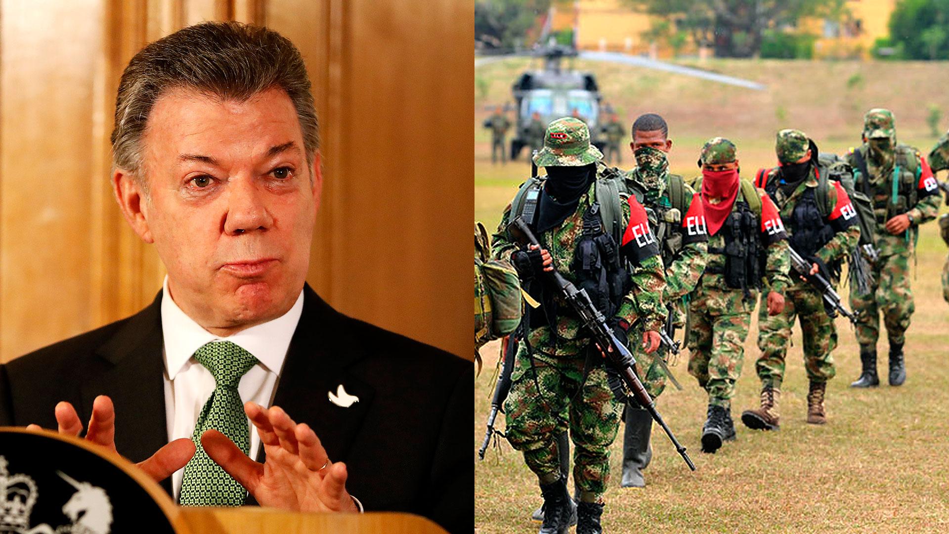 Juan Manuel Santos quiere avanzar en un diálogo de paz con el Ejército de Liberación Nacional (ELN)