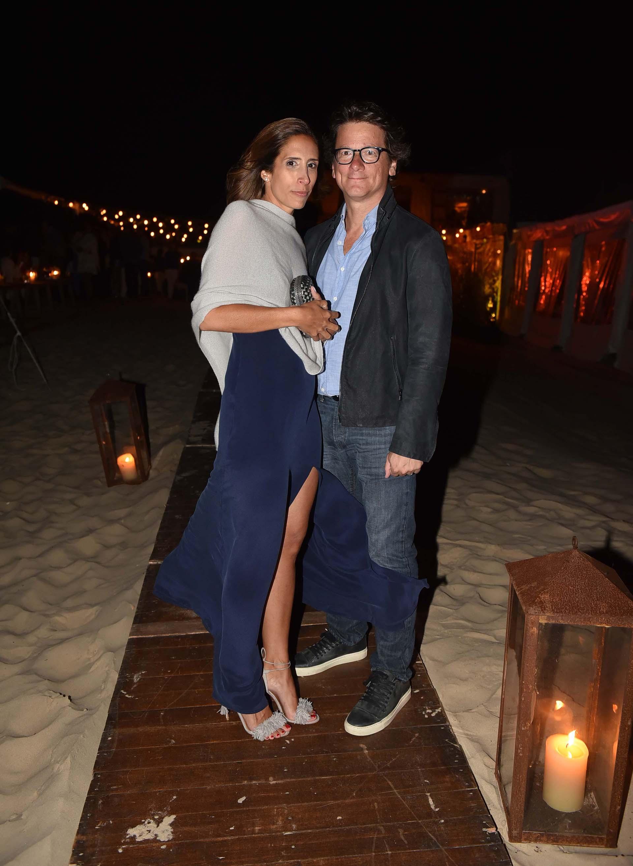 Gabriel Martino, presidente de HSBC Argentina, junto su mujer Florencia Perotti, recibieron a los invitados
