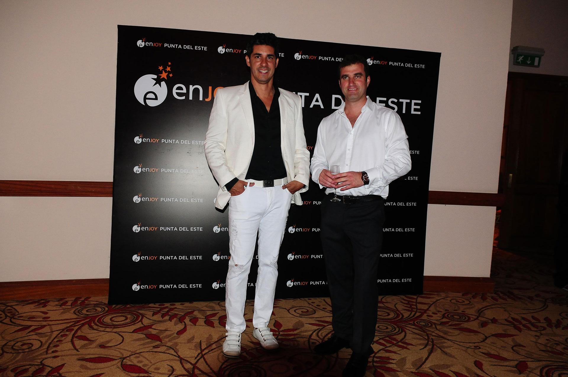 Javier Azcurra y Juan Eduardo Parker, gerente de Relaciones Públicas y gerente general de Enjoy Punta del Este, respectivamente