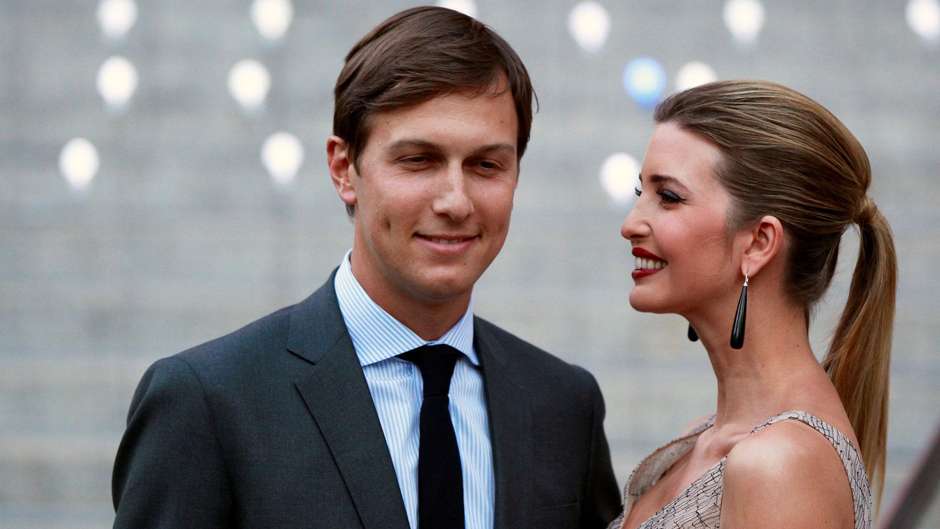 Jared Kushner y su esposa, la hija de Donald Trump, Ivanka