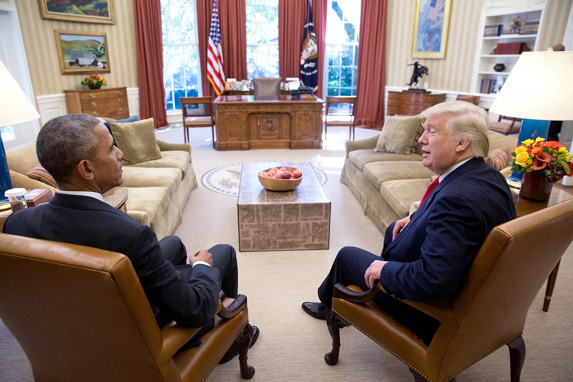 En el primer encuentro con el presidente electo, Donald Trump