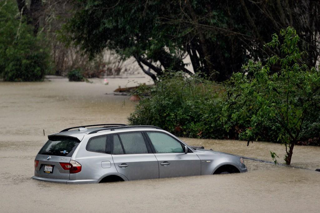El desborde del río Ruso en Guerneville (AP)