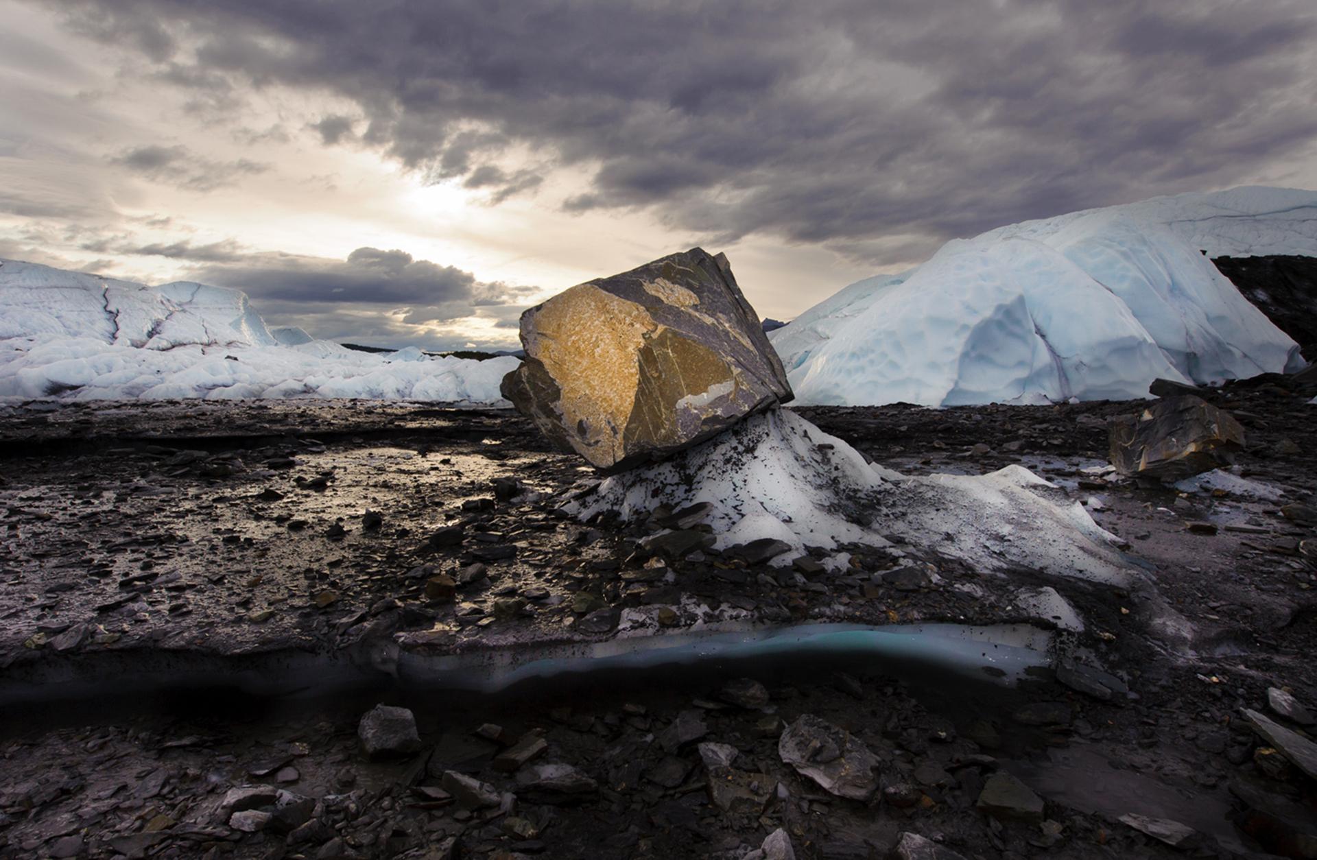 Una vista del Glaciar Matanuska, 29 de julio de 2009