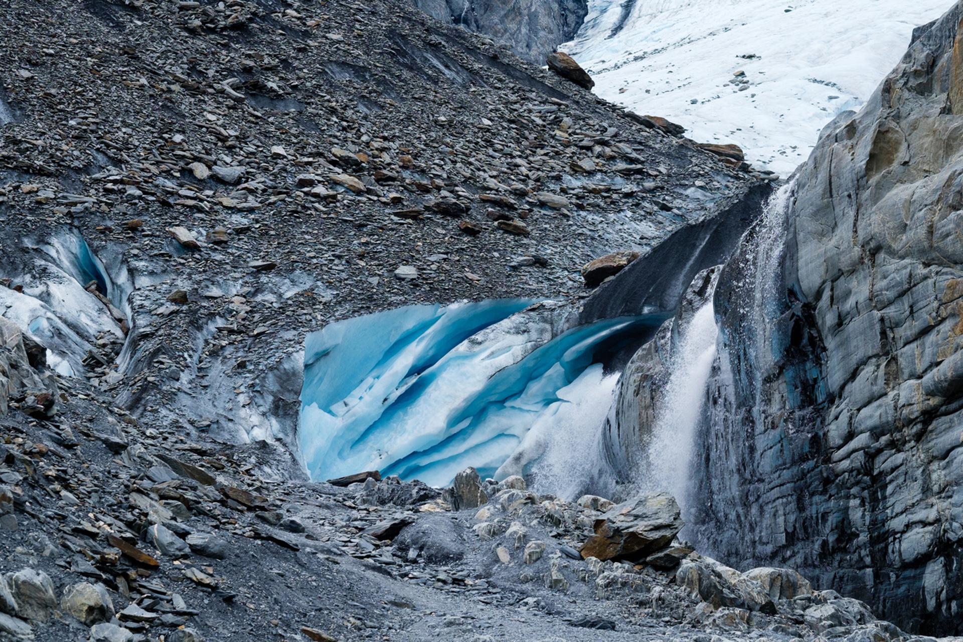Hielo expuesto del Glaciar Worthington