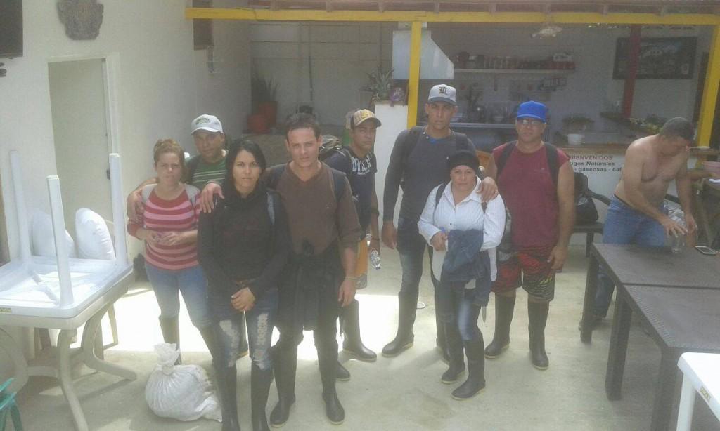 Grupo de cubanos que salieron de Guyana a fines del año pasado y que pretenden seguir la travesía hasta mexico para encontrar asilo político en la frontera con EEUU