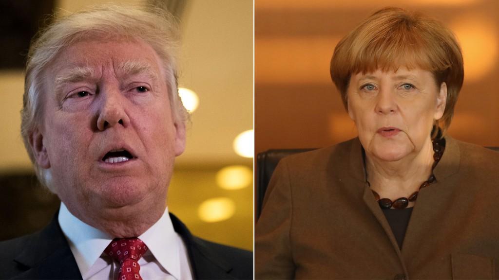 Donald Trump criticó a Angela Merkel por su política de refugiados