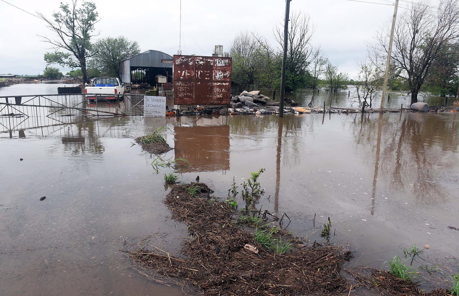 También el agua produjo inconvenientes en las localidades de Labordeboy, Elortondo, Wheelright, Firmat, Chabás y Villada